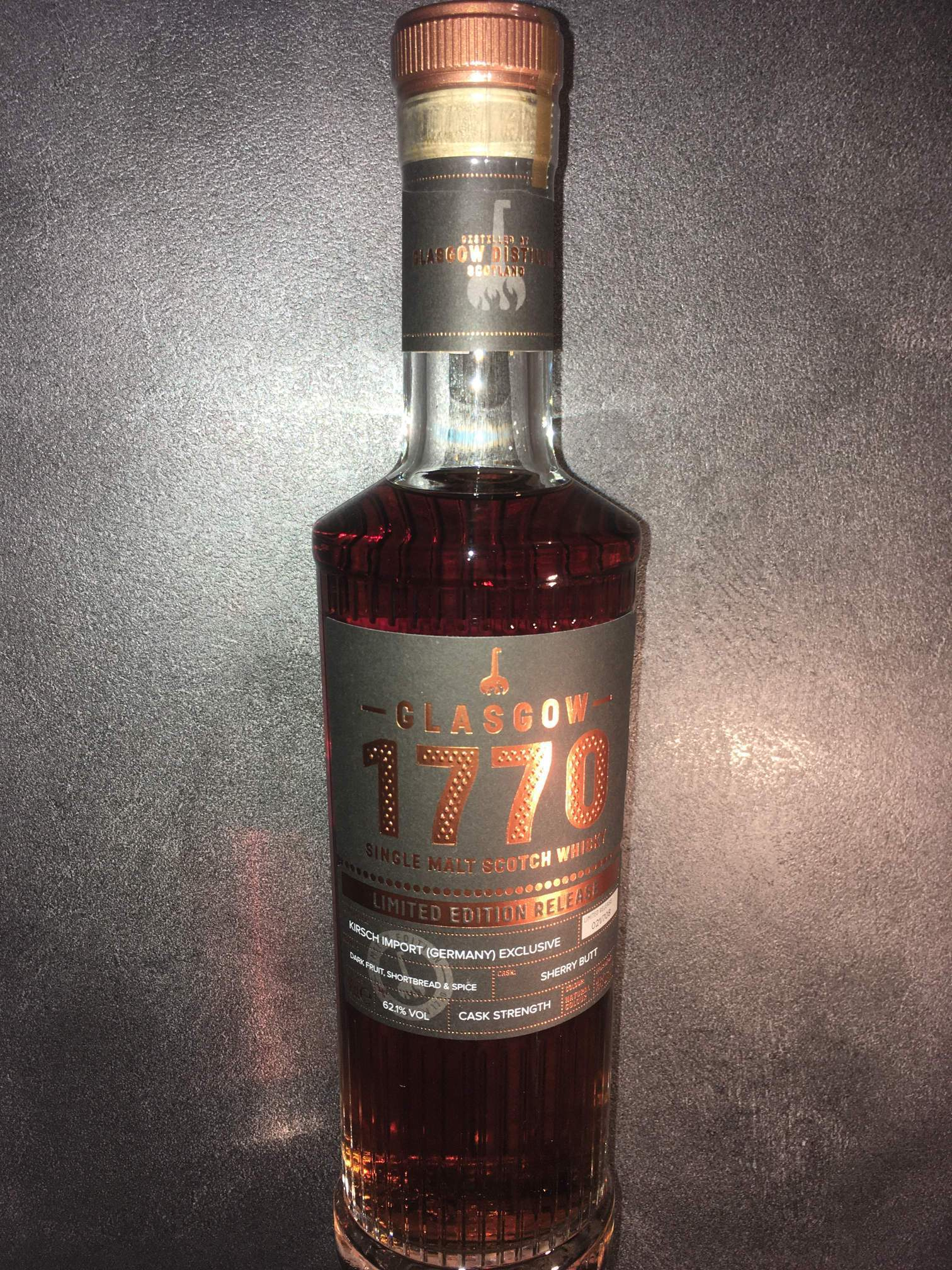 Glasgow 1770 Limited Edition Release - Single Cask - Cask Strength