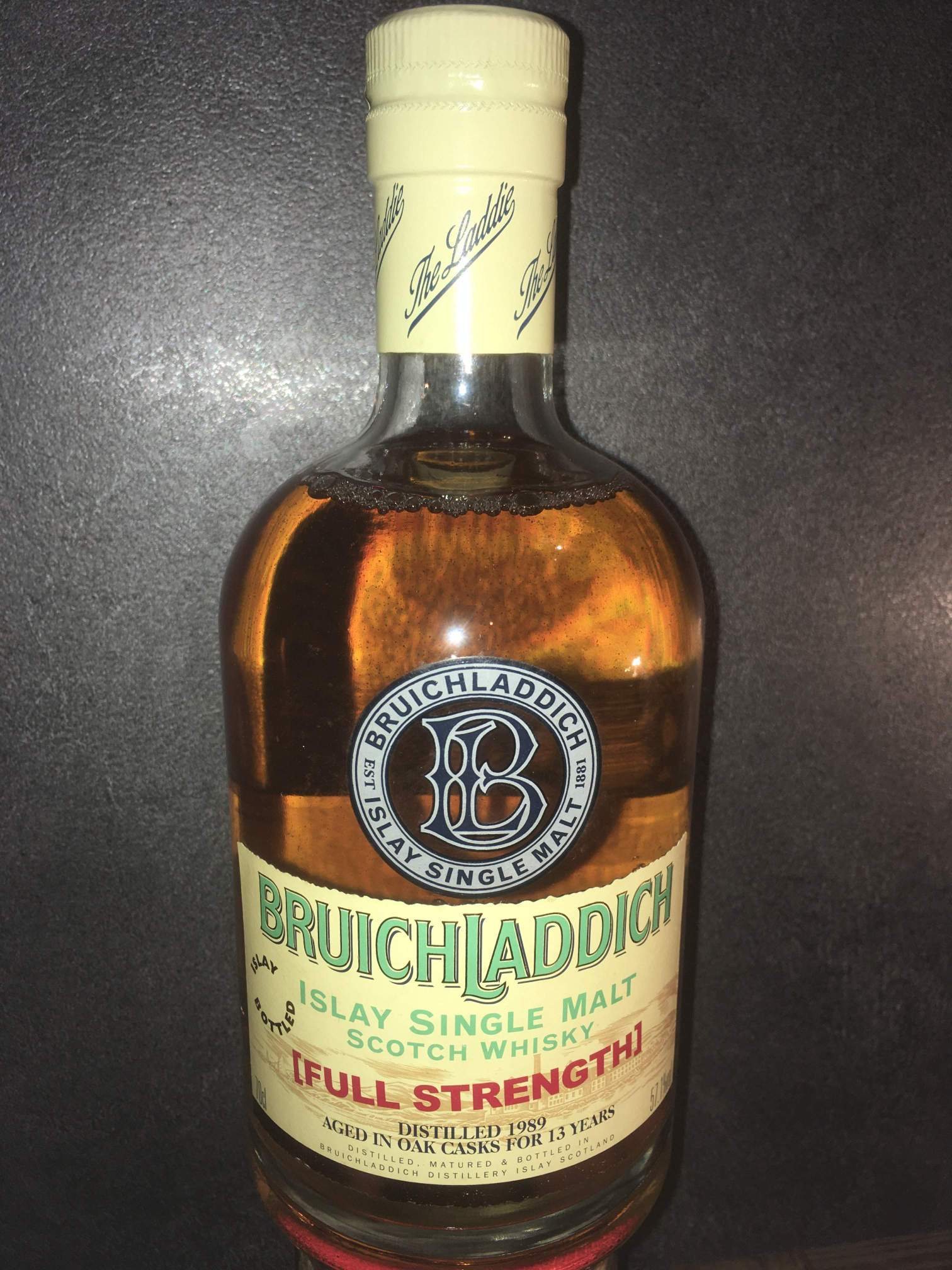 Bruichladdich Full Strength 1989 - Laddy-Legende alter Zeiten